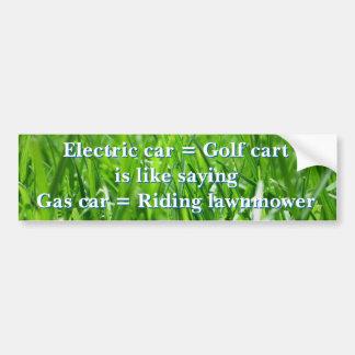 Adesivo De Para-choque Os carros elétricos são carros de golfe