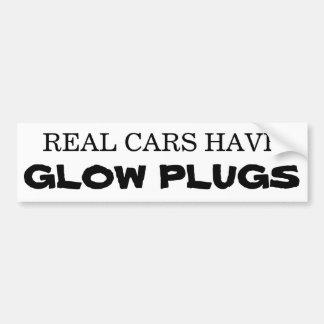 Adesivo De Para-choque Os carros reais têm TOMADAS de FULGOR