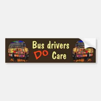 Adesivo De Para-choque Os condutores de autocarro importam-se