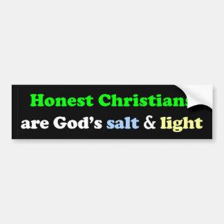 Adesivo De Para-choque Os cristãos honestos são o sal & a luz do deus
