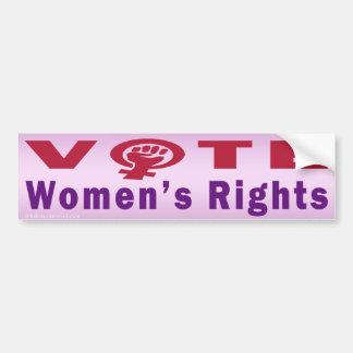 Adesivo De Para-choque Os direitos das mulheres do voto 1 autocolante no