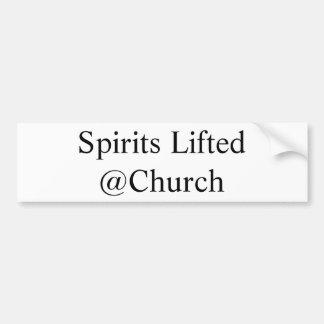 Adesivo De Para-choque Os espírito levantaram a etiqueta do @Church
