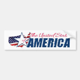 Adesivo De Para-choque Os Estados Unidos da América 4o julho