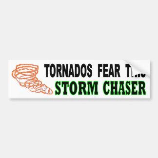 Adesivo De Para-choque Os furacões temem este caçador da tempestade