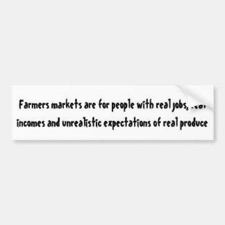 Adesivo De Para-choque Os mercados dos fazendeiros são para pessoas com