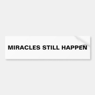 """Adesivo De Para-choque Os """"milagre ainda acontecem"""" autocolante no vidro"""