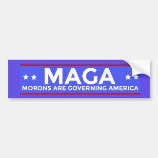 Adesivo De Para-choque Os parvos de MAGA estão governando América Conser