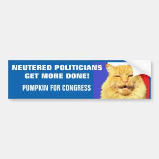Adesivo De Para-choque Os políticos neutralizados obtêm mais feitos -