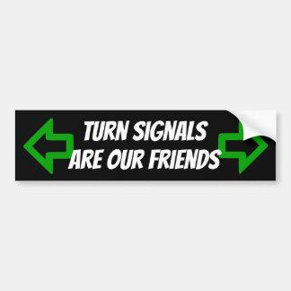 Adesivo De Para-choque Os sinais de volta são nossa etiqueta dos amigos