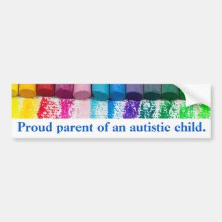 Adesivo De Para-choque Pai orgulhoso de um autocolante no vidro traseiro