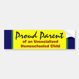Adesivo De Para-choque Pai orgulhoso de Unsocialized Homeschooler
