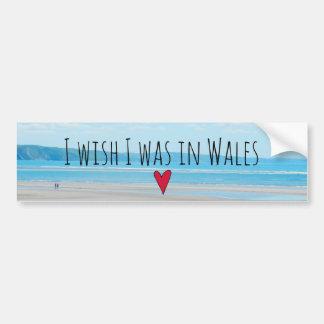 Adesivo De Para-choque Paisagem bonita Aberdovey da praia do mar de Wales