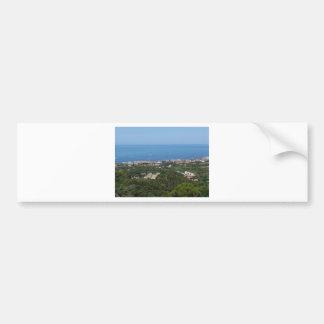 Adesivo De Para-choque Panorama aéreo espectacular da cidade de Livorno