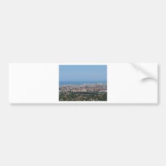 Adesivo De Para-choque Panorama aéreo espectacular da cidade de Livorno,
