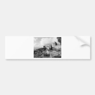 Adesivo De Para-choque Panorama da vila de Volterra, província de Pisa