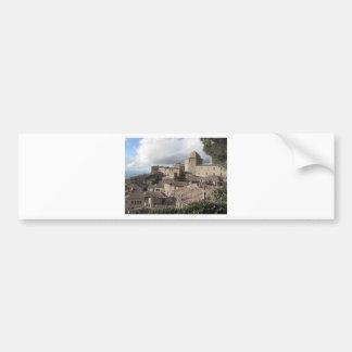 Adesivo De Para-choque Panorama da vila de Volterra, Toscânia, Italia