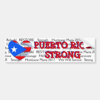 Adesivo De Para-choque Pára-choque forte de Maria do furacão da bandeira