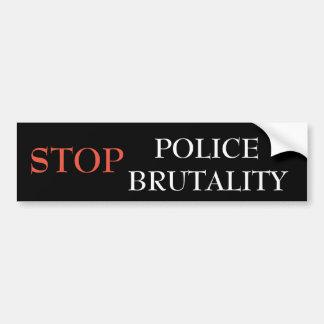Adesivo De Para-choque Pare a brutalidade de polícia