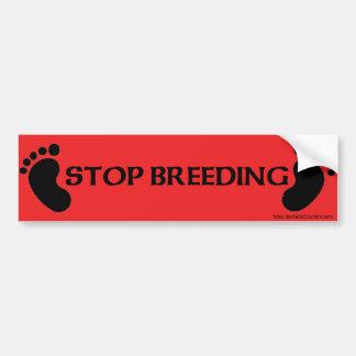 Adesivo De Para-choque Pare a criação de animais com pés do bebê