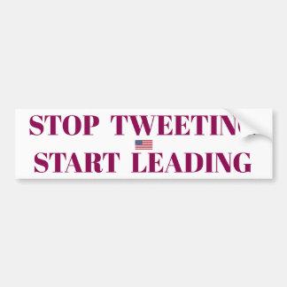 Adesivo De Para-choque Pare a etiqueta Tweeting