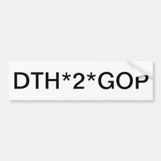Adesivo De Para-choque Pare o Grand Old Party republicano