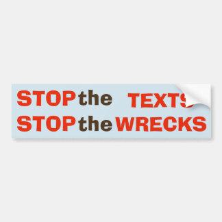 Adesivo De Para-choque Pare os textos - pare a etiqueta das destruições
