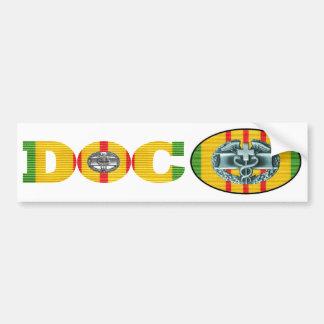 Adesivo De Para-choque Pares da etiqueta do Doc do médico do combate de