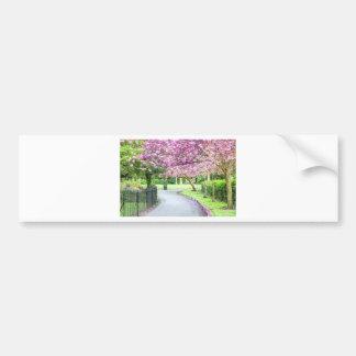 Adesivo De Para-choque Parque bonito durante o primavera