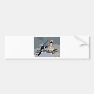 Adesivo De Para-choque Pássaro de Jay no inverno