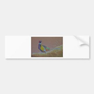 Adesivo De Para-choque Pássaro selvagem do faisão do pescoço do anel