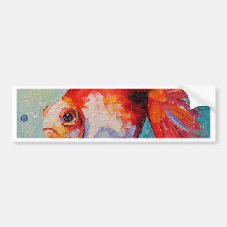 Adesivo De Para-choque Peixe dourado