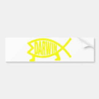 Adesivo De Para-choque Peixes originais de Darwin (amarelo)