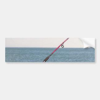 Adesivo De Para-choque Pesca Rod no cais em San Francisco Bay