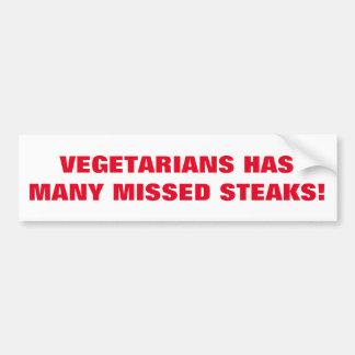Adesivo De Para-choque Piada dos vegetarianos impressa na etiqueta