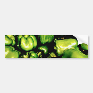 Adesivo De Para-choque Pimentas de Bell verdes
