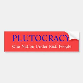 Adesivo De Para-choque Plutocracia e o 99%
