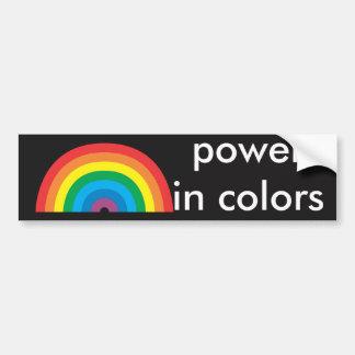 Adesivo De Para-choque poder nas cores