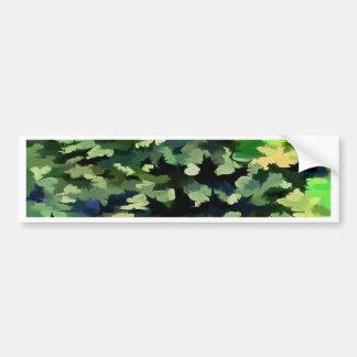 Adesivo De Para-choque Pop art abstrato da folha em verde e no azul