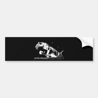 Adesivo De Para-choque Pop art do tigre