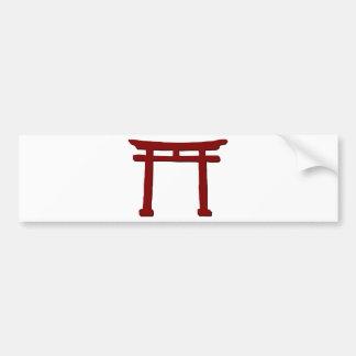 Adesivo De Para-choque Porta xintoísmo