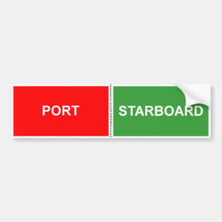 Adesivo De Para-choque Porto e etiqueta estibordo