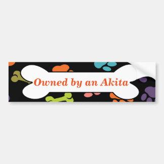Adesivo De Para-choque Possuído por um Akita