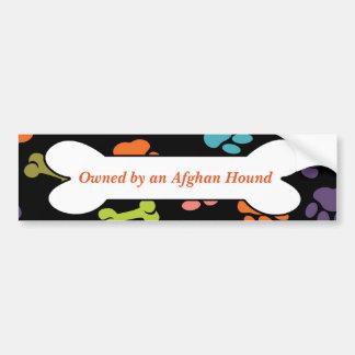 Adesivo De Para-choque Possuído por um galgo afegão ou pela outra
