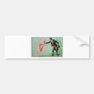 Adesivo De Para-choque Poster da ilha dos erin do dia de Patrick de santo