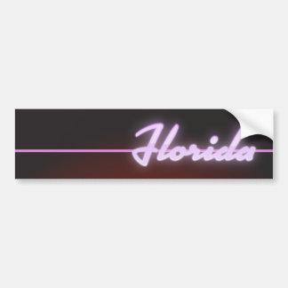 Adesivo De Para-choque Poster do néon de Florida 1984