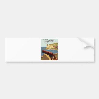 Adesivo De Para-choque Poster Puerto Rico das viagens vintage