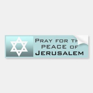 Adesivo De Para-choque Pray para a paz de Jerusalem