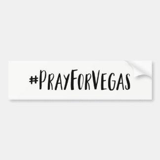 Adesivo De Para-choque Pray para o autocolante no vidro traseiro de Vegas