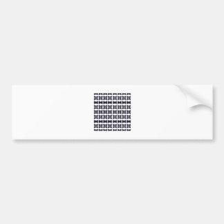 Adesivo De Para-choque Preto do laço no branco