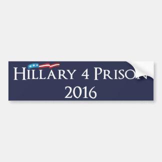 Adesivo De Para-choque Prisão 2016 de Hillary Clinton 4